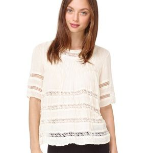 Wilfred Beaudry Blouse - cream - Size Small